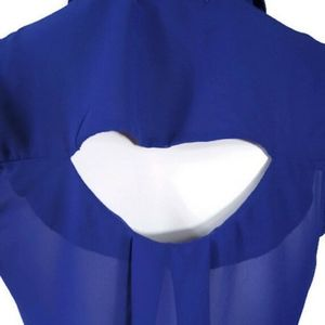 Margo & Sebastian Tops - Margo & Sebastian Blue Size S Top Blouse Sheer